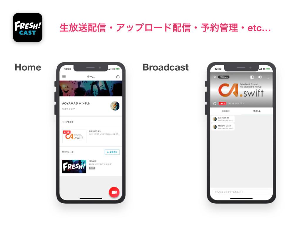 Home Broadcast ੜ์ૹ৴ɾΞοϓϩʔυ৴ɾ༧ཧɾetc…