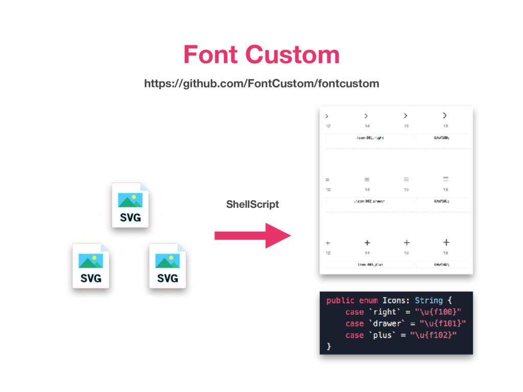 ShellScript Font Custom https://github.com/Font...
