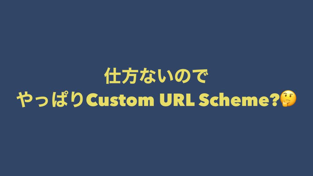 ํͳ͍ͷͰ ͬͺΓCustom URL Scheme?