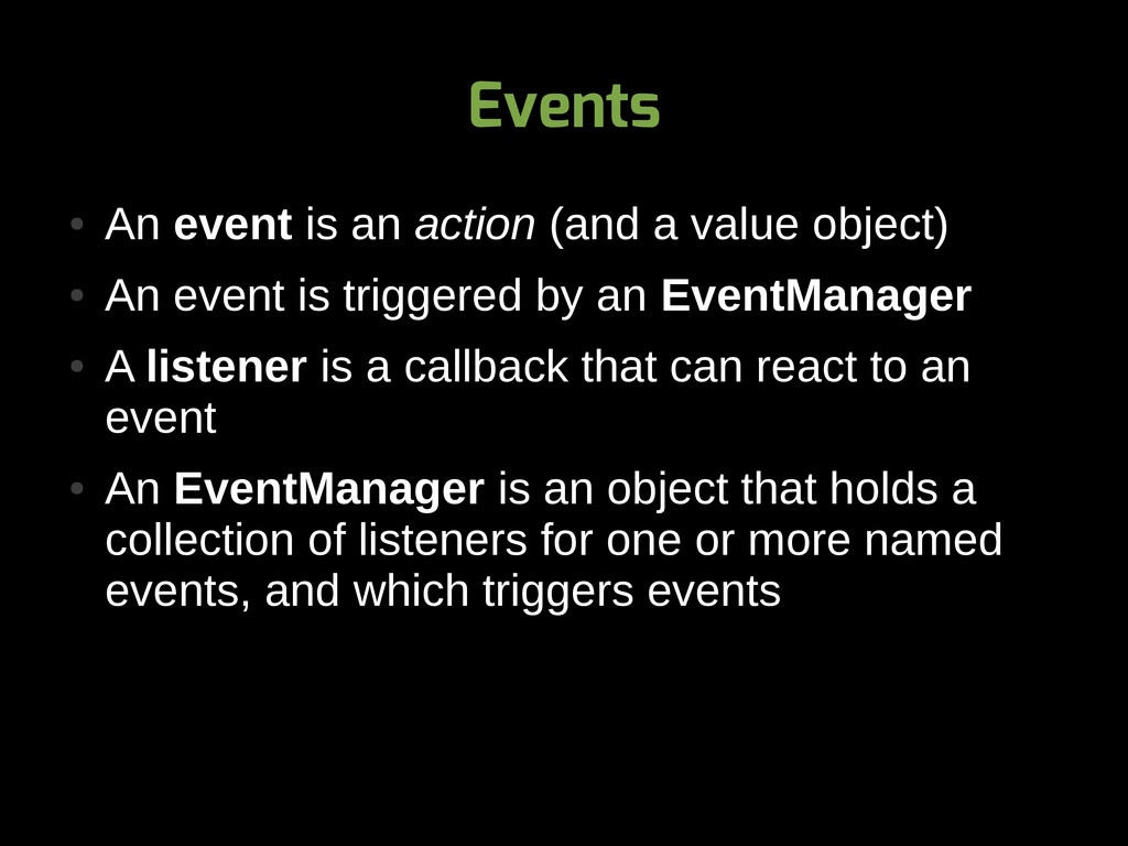 Events ● An event is an action (and a value obj...