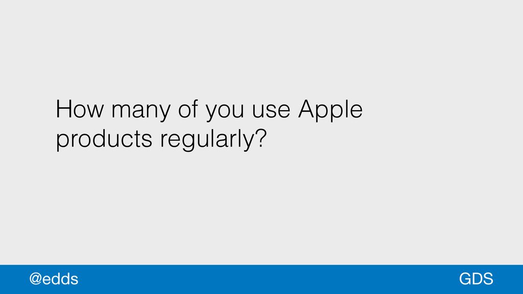 How many of you use Apple products regularly? G...