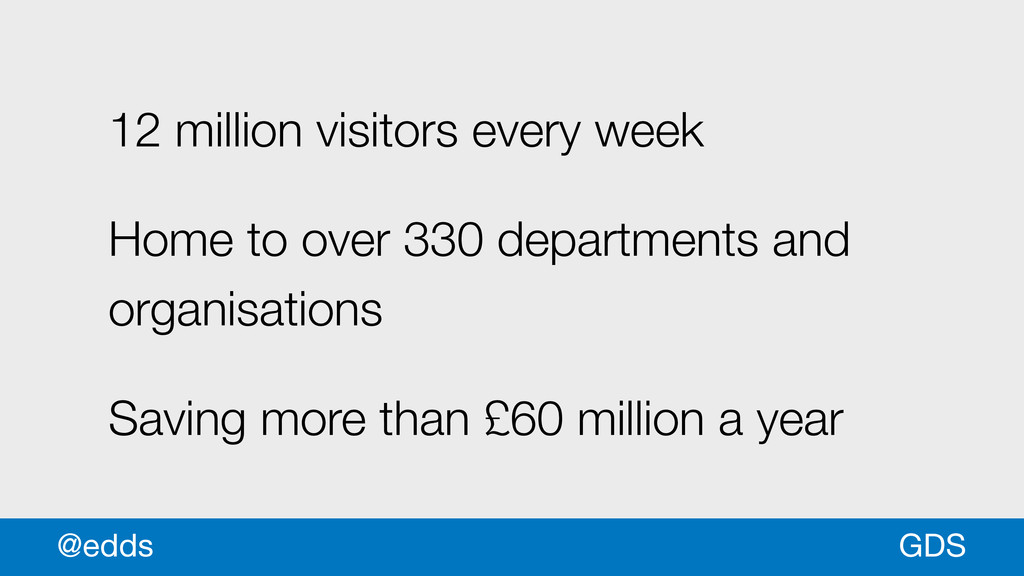 GDS @edds 12 million visitors every week Home t...