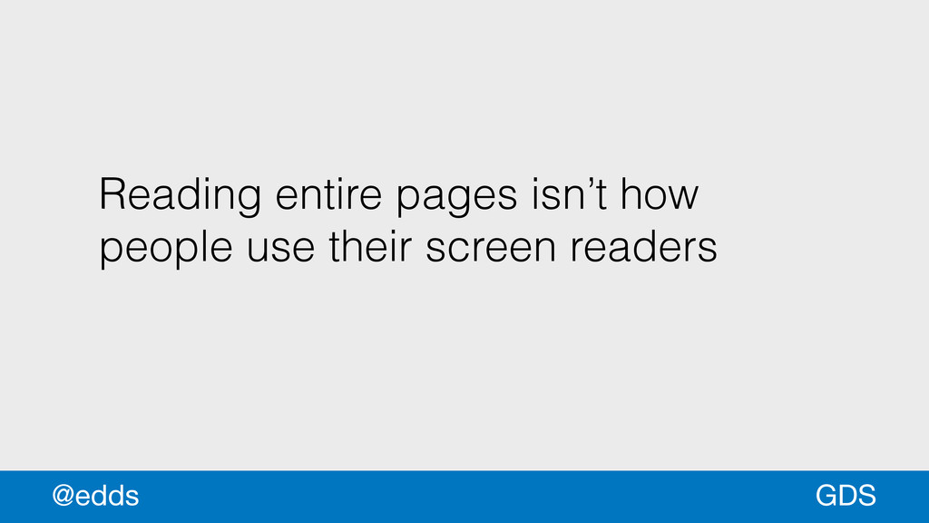 Reading entire pages isn't how people use their...