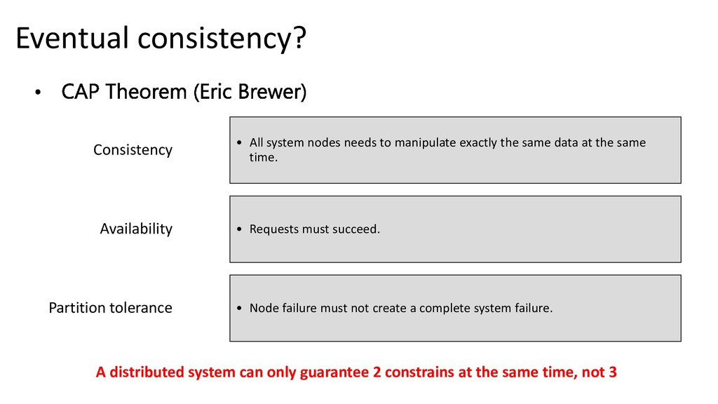 Consistency • All system nodes needs to manipul...