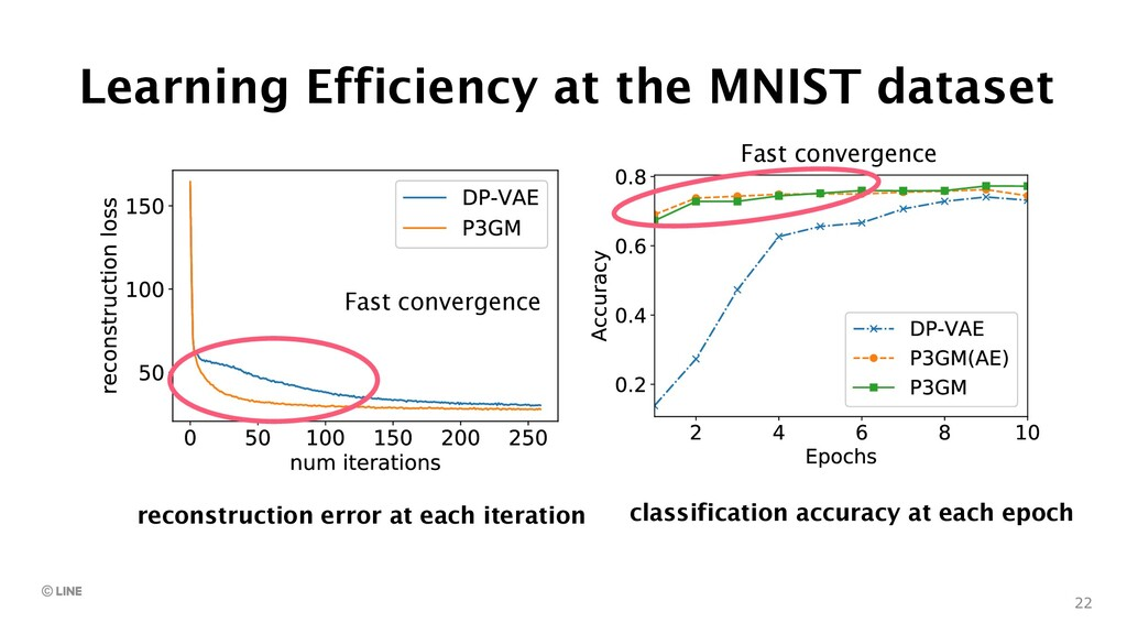 Learning Efficiency at the MNIST dataset 22 (a)...