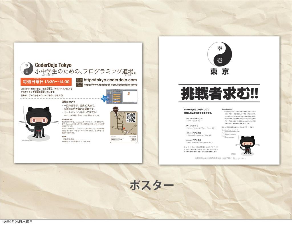 ϙελʔ খதֶੜͷͨΊͷɺ ϓϩάϥϛϯάಓɻ CoderDojo Tokyo $PEFS...