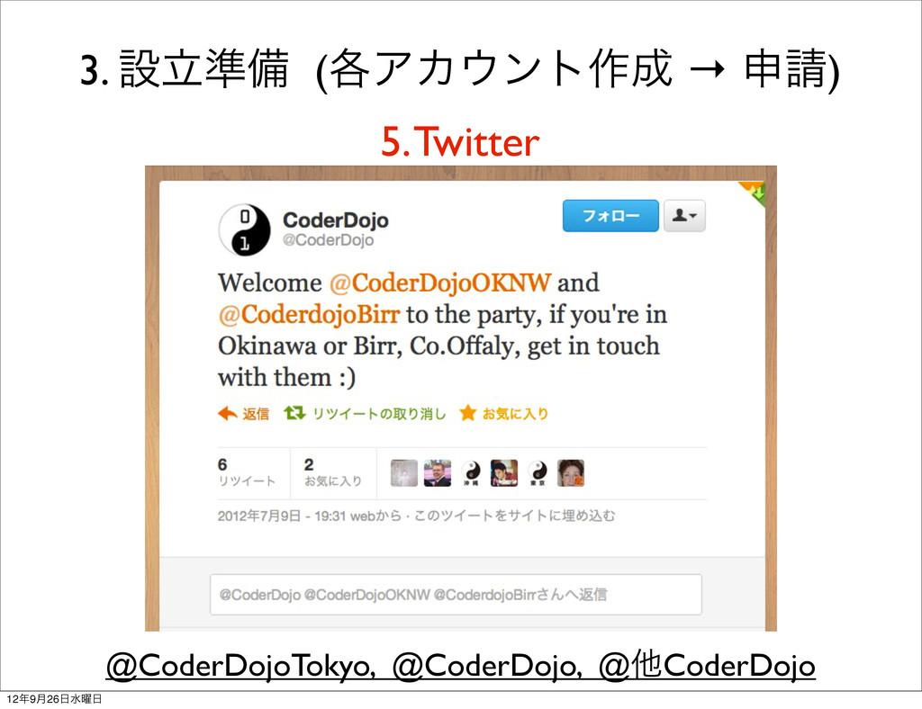 3. ઃཱ४උ (֤ΞΧϯτ࡞ → ਃ) 5. Twitter @CoderDojoTo...