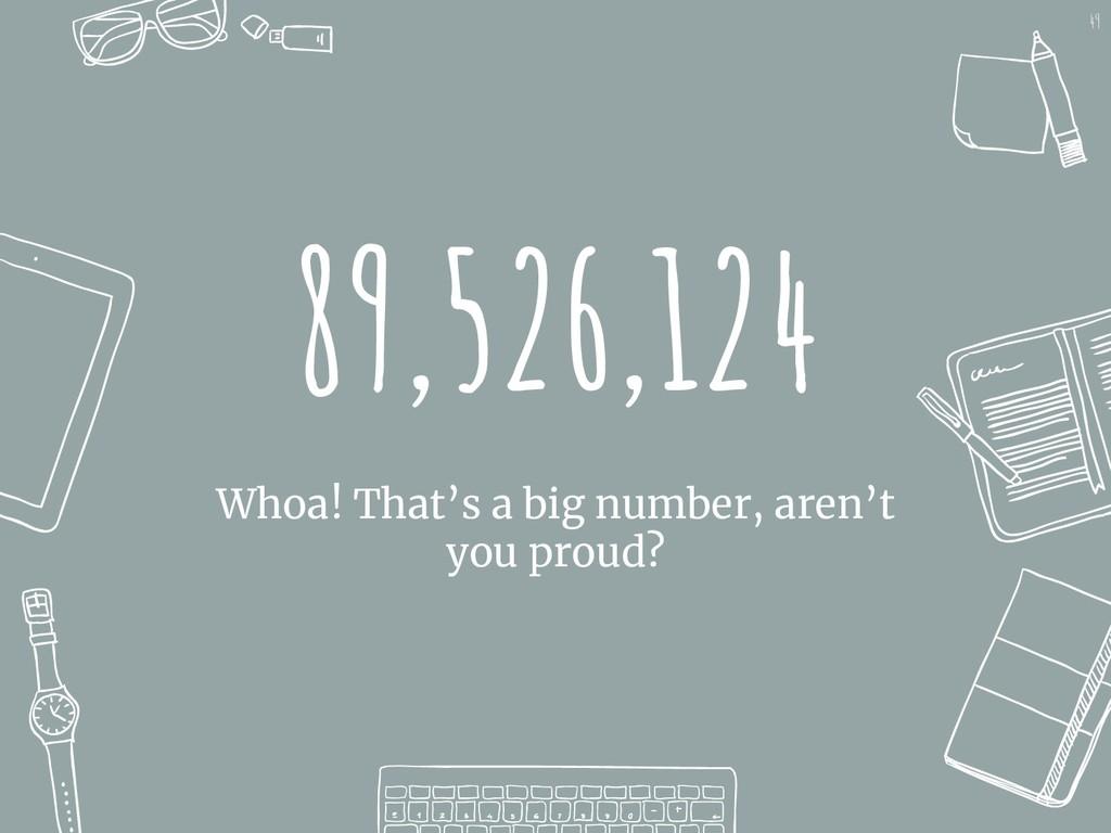 89,526,124 Whoa! That's a big number, aren't yo...