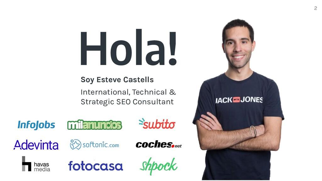 Hola! Soy Esteve Castells International, Techni...