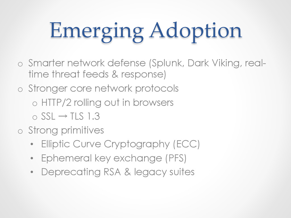 Emerging Adoption o Smarter network defense...