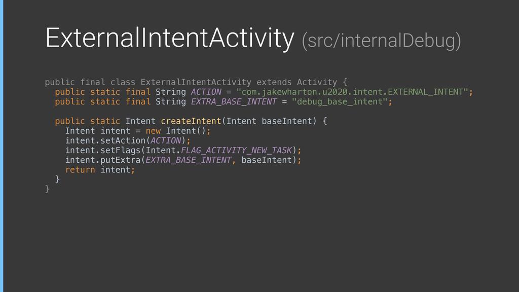 ExternalIntentActivity (src/internalDebug) publ...