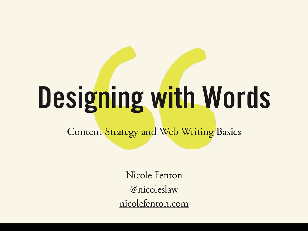 Designing with Words Content Strategy and Web ...