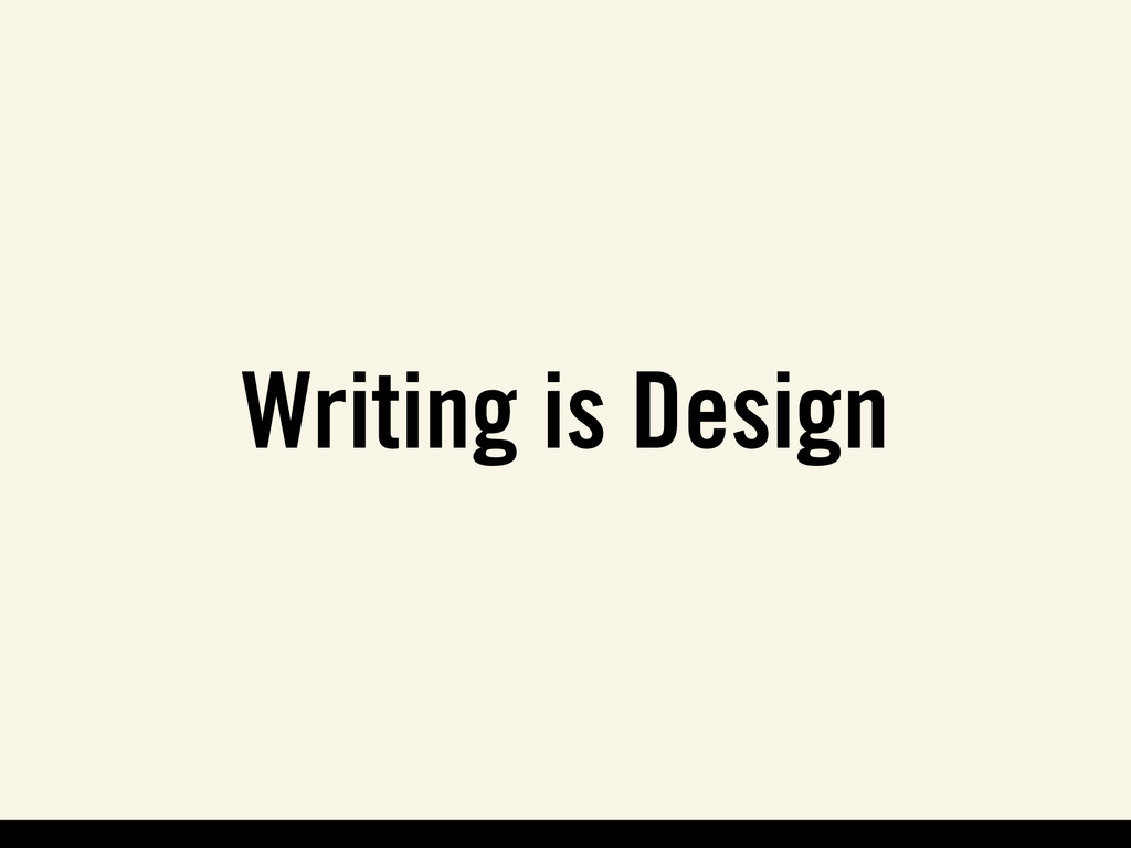 Writing is Design