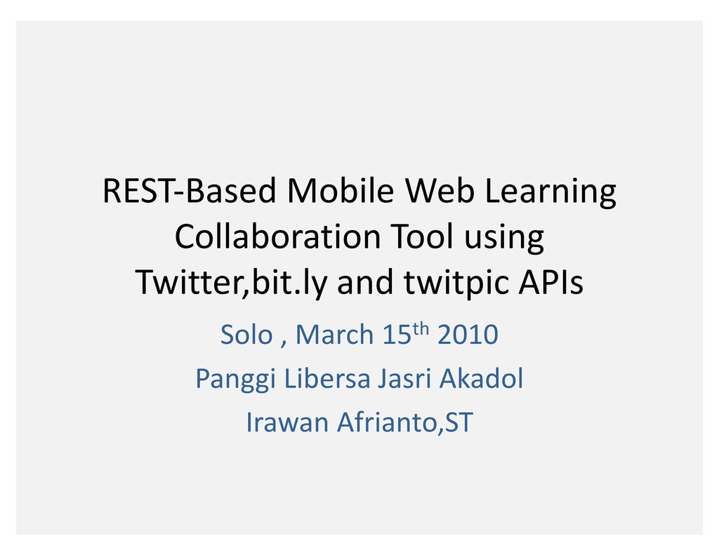 REST-Based Mobile Web Learning Collaboration To...