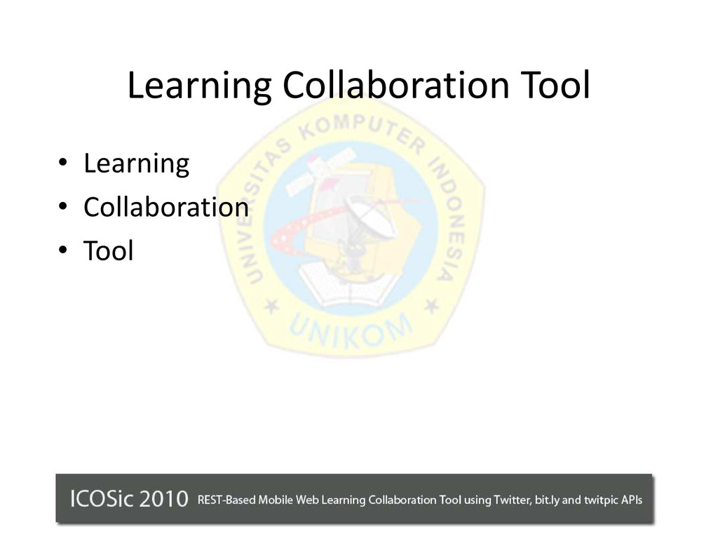 Learning Collaboration Tool ‡ Learning ‡ Collab...
