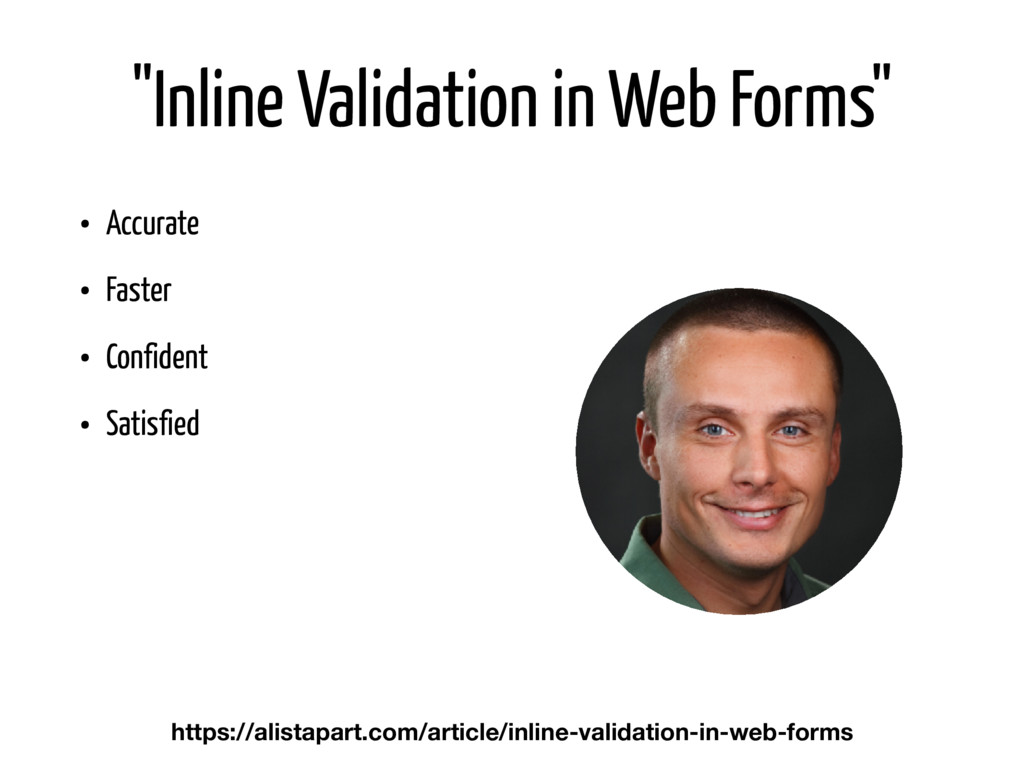 """""""Inline Validation in Web Forms"""" • Accurate • F..."""