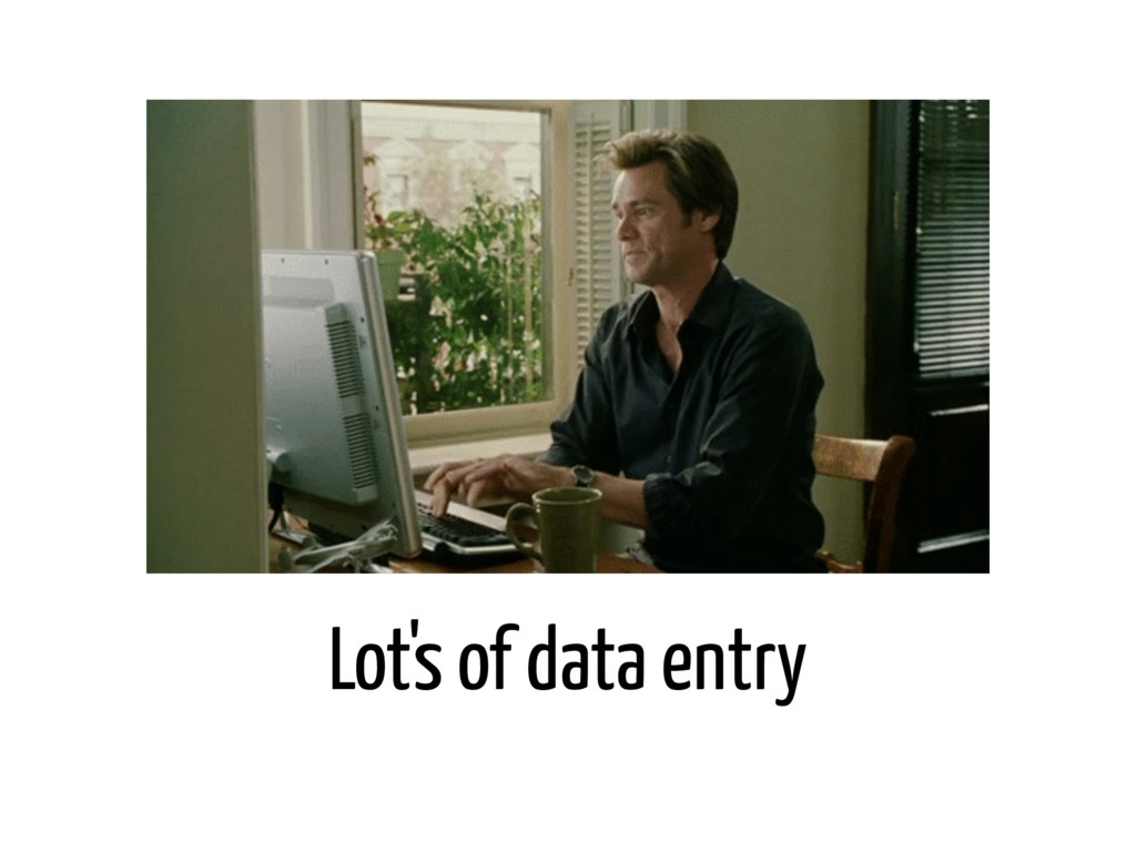 Lot's of data entry