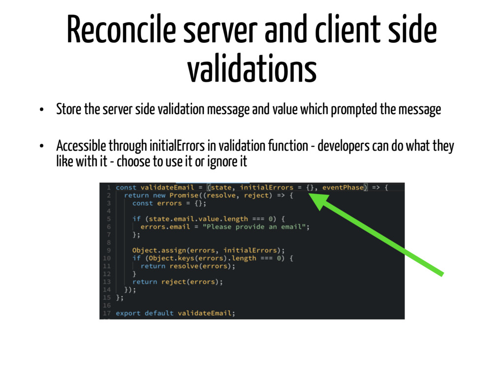 Reconcile server and client side validations • ...
