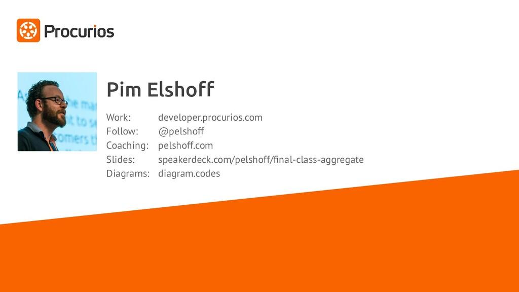 Pim Elshoff Work: developer.procurios.com Follow...
