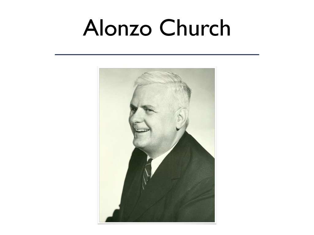 Alonzo Church