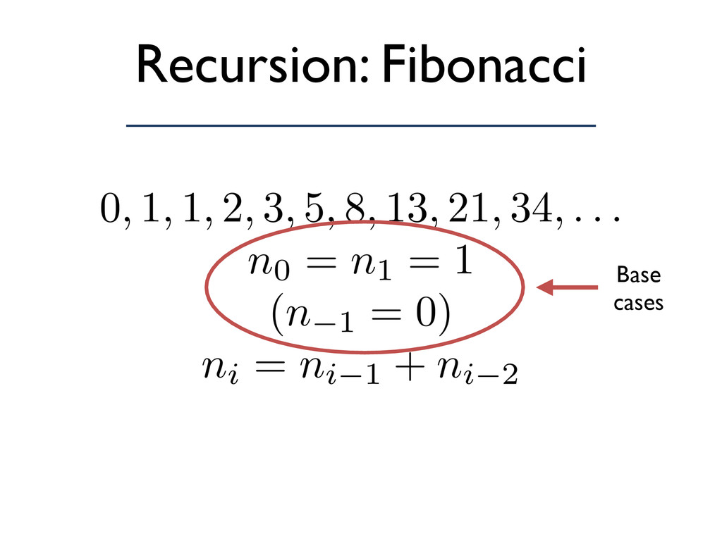 Recursion: Fibonacci Base cases