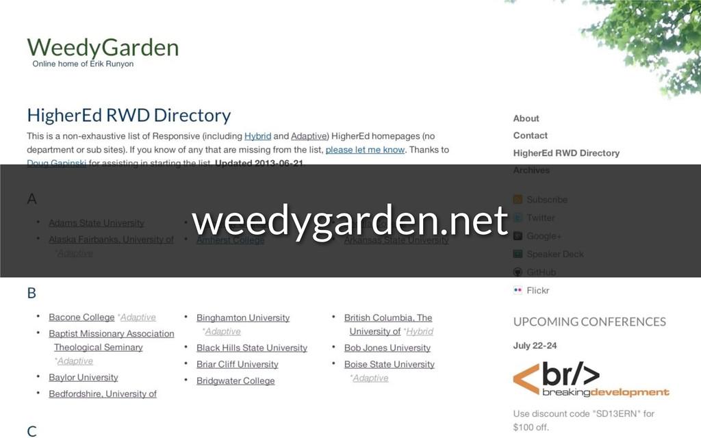 weedygarden.net