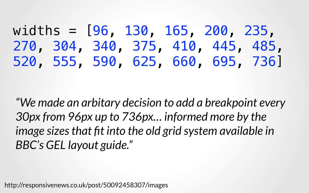 widths = [96, 130, 165, 200, 235, 270, 304, 340...
