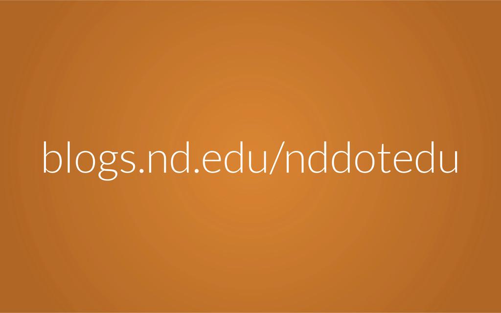 blogs.nd.edu/nddotedu