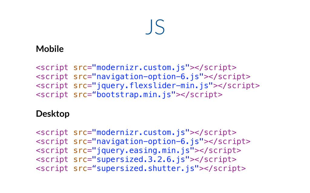 "JS Mobile ! <script src=""modernizr.custom.js""><..."