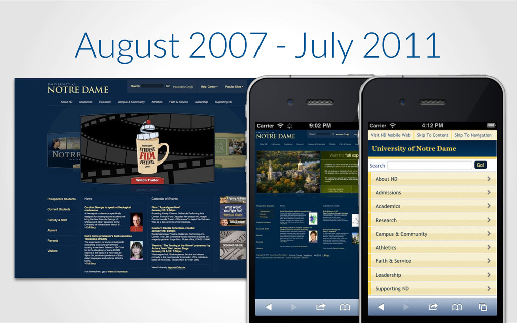 August 2007 - July 2011