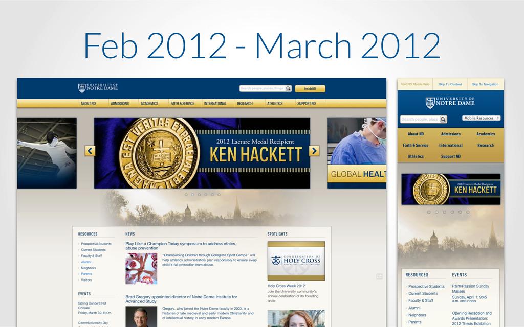 Feb 2012 - March 2012