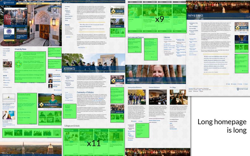 Long homepage is long x9 x11