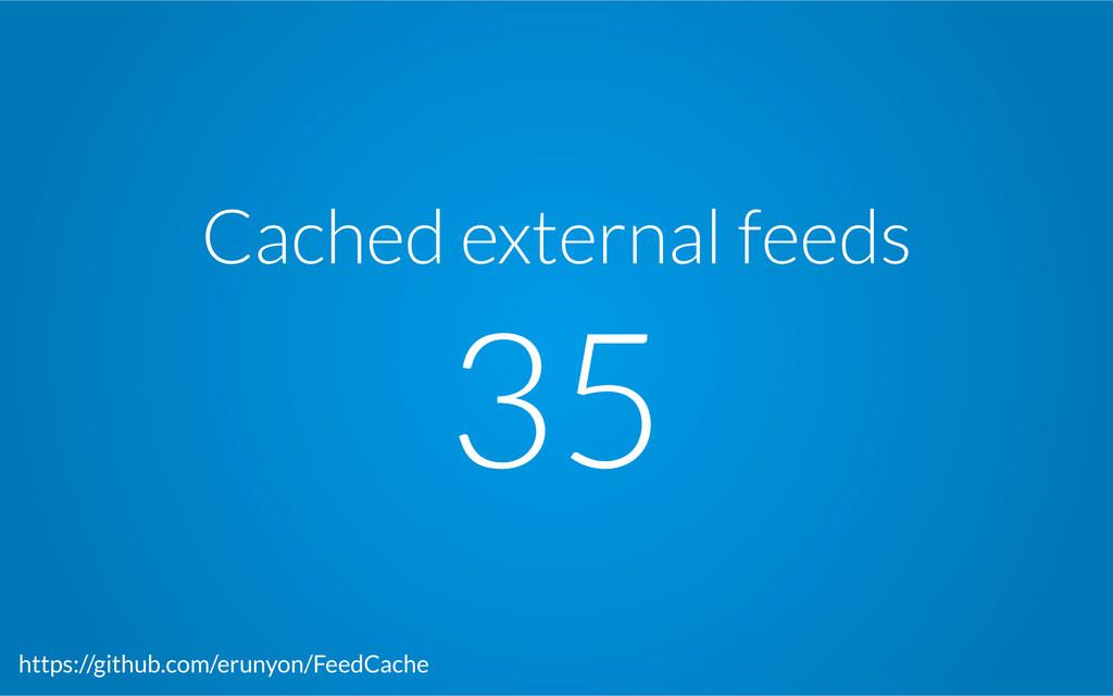 Cached external feeds 35 https://github.com/er...