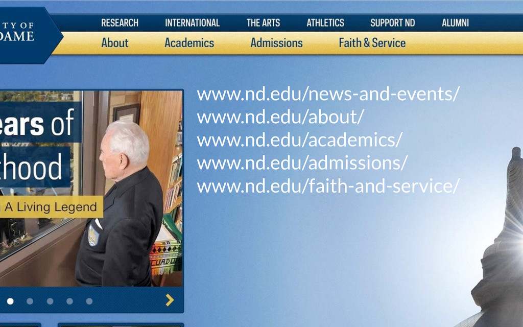 www.nd.edu/news-and-events/ www.nd.edu/about/ w...
