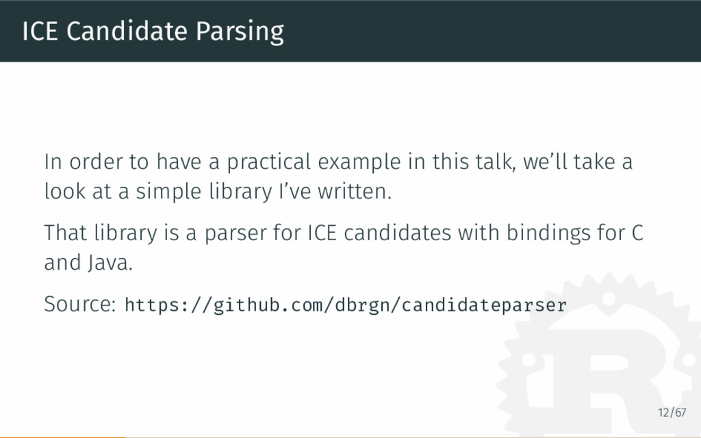 ICE Candidate Parsing In order to have a practi...