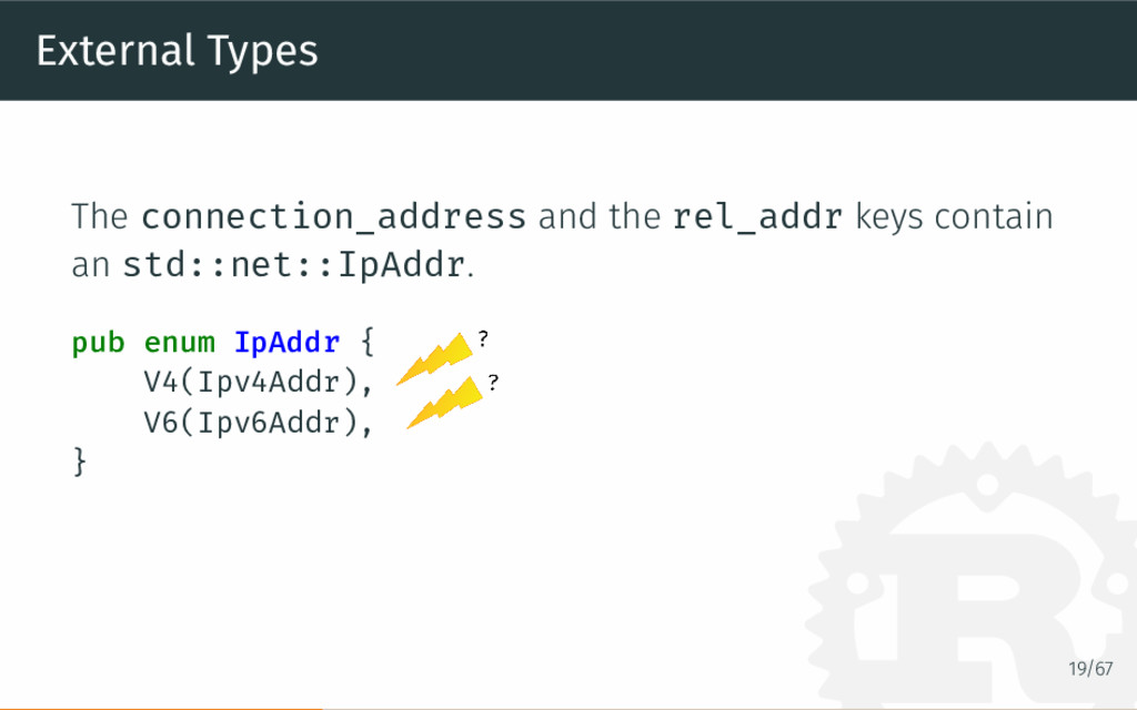 External Types The connection_address and the r...