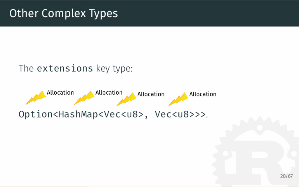 Other Complex Types The extensions key type: Op...