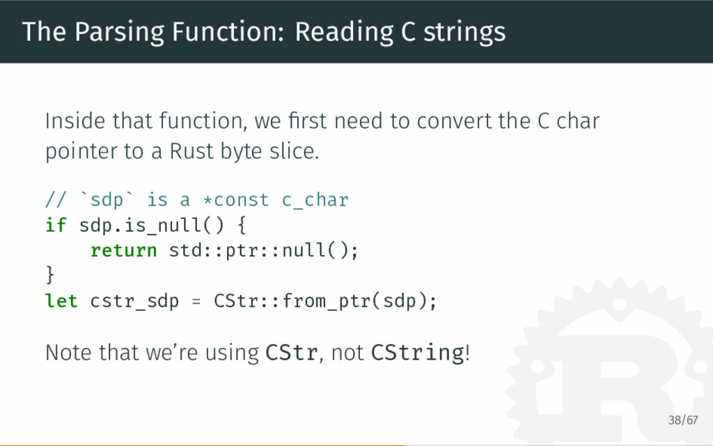 The Parsing Function: Reading C strings Inside ...