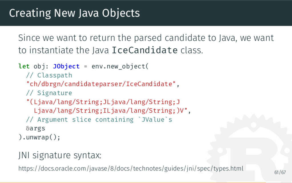 Creating New Java Objects Since we want to retu...