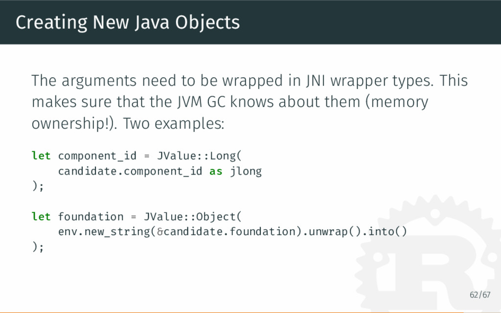Creating New Java Objects The arguments need to...