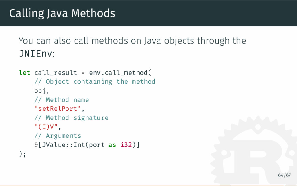 Calling Java Methods You can also call methods ...