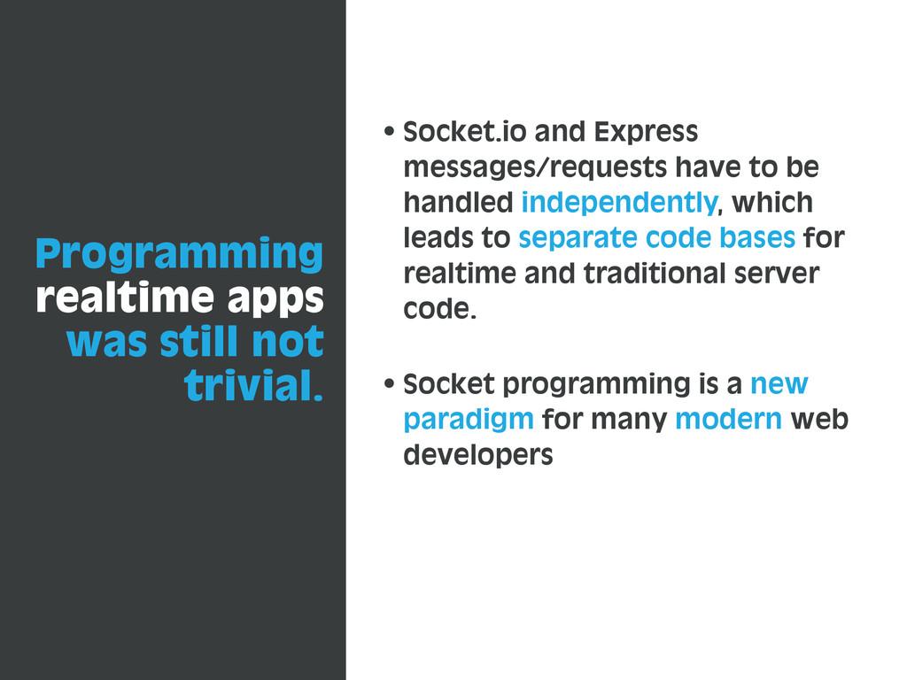 Programming realtime apps was still not trivial...