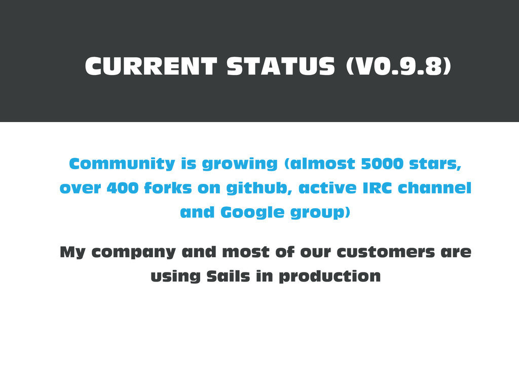 Community is growing (almost 5000 stars, over 4...