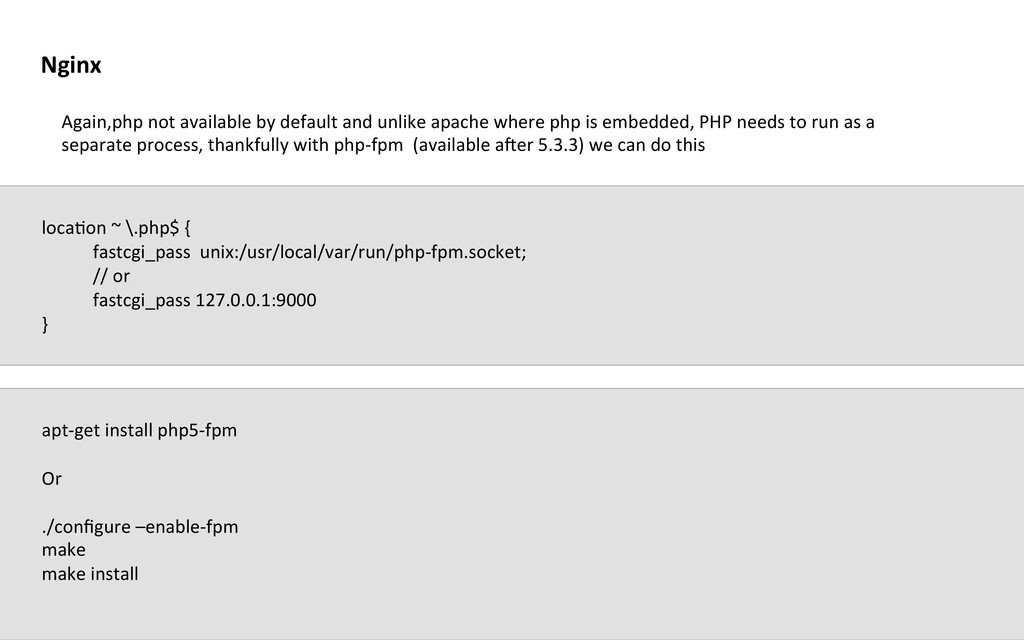 Again,php not available by default...