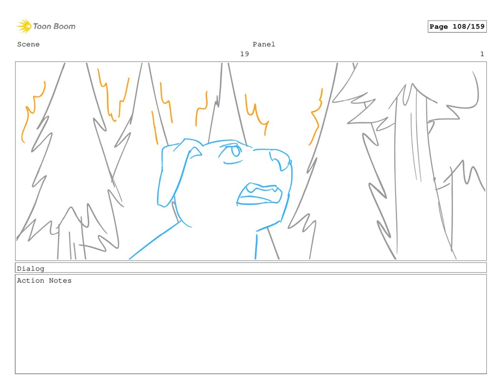 Scene 19 Panel 1 Dialog Action Notes Page 108/1...