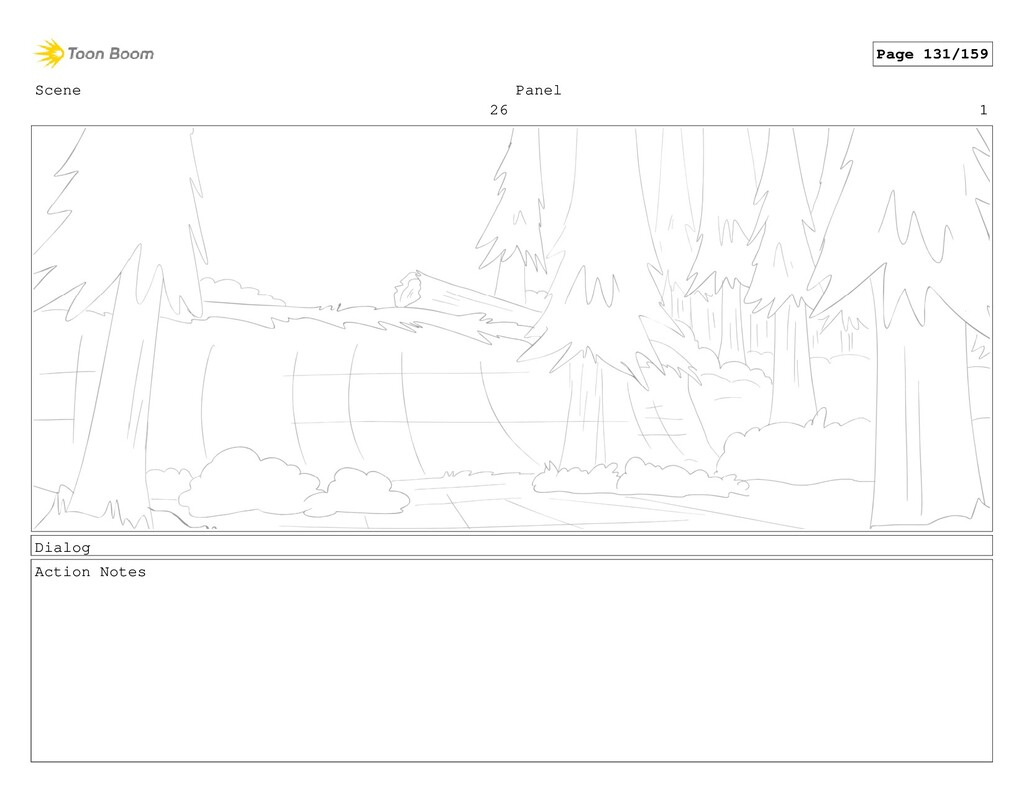 Scene 26 Panel 1 Dialog Action Notes Page 131/1...