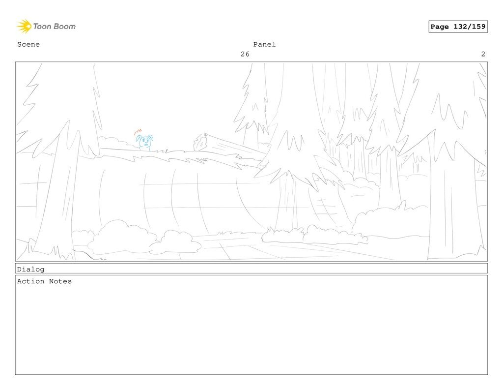 Scene 26 Panel 2 Dialog Action Notes Page 132/1...