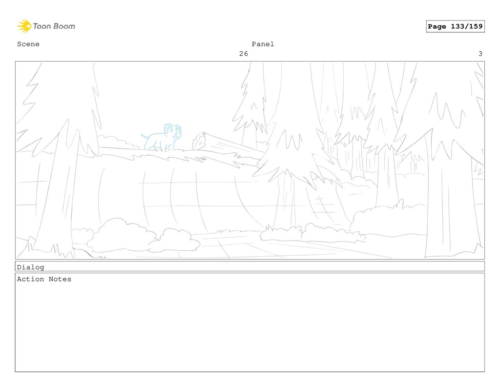 Scene 26 Panel 3 Dialog Action Notes Page 133/1...