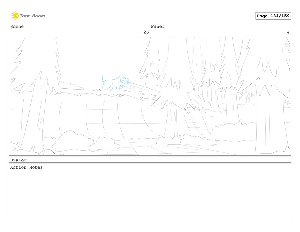 Scene 26 Panel 4 Dialog Action Notes Page 134/1...