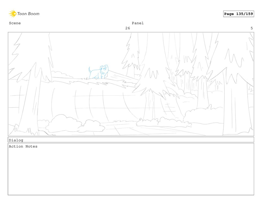 Scene 26 Panel 5 Dialog Action Notes Page 135/1...